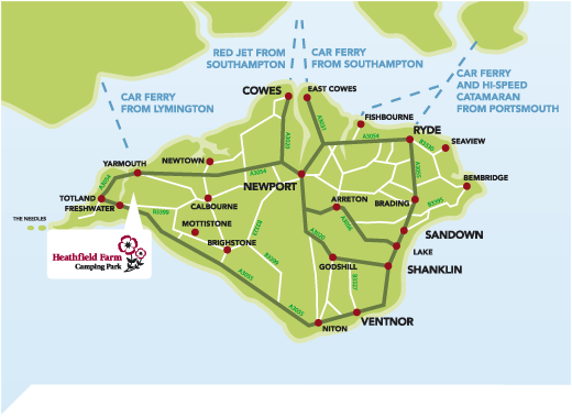 Isle of Wight  an ideal camping touring holiday destination